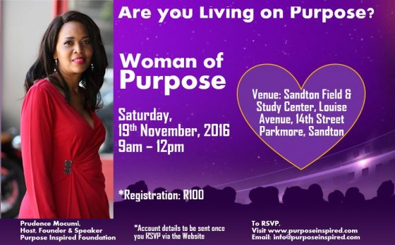 Woman of Purpose Session