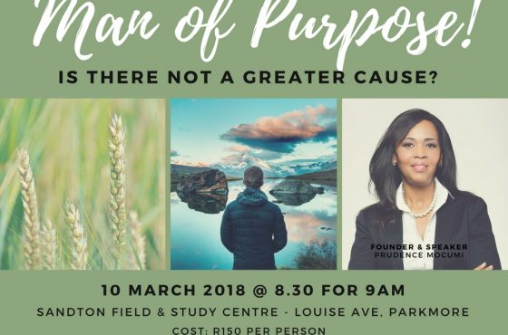 Man of Purpose: Is there Not a Greater Cause