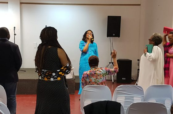 Ministering at Glory Word Center, South Africa